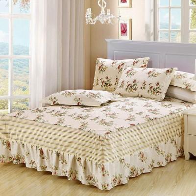 [德玉秀坊] 全棉床裙+2只枕套 Q8-1 200*220cm 其他留言