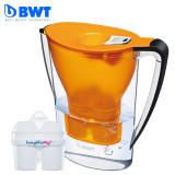 德国BWT滤水壶 2.7升 6色可选 直饮便携户外滤水壶 一壶两芯 一壶两芯 橙色 有效去除铅 铜等金属元素保留有益矿物质