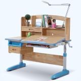 美亿佳 实木儿童学习桌可升降儿童书桌椅套装学生电脑桌写字台 单桌(不含椅)