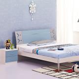 糖果屋 儿童套房家具3件套 1.2米床 板式床+10CM床垫 棕垫+床头柜 天蓝色 儿童家具
