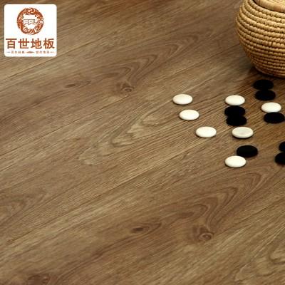 百世地板 凯撒系列强化复合地板地热地暖环保地板990 棕黄色