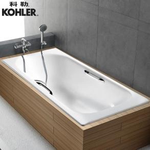 科勒KOHLER 索尚 K-941/943T-0 嵌入式铸铁浴缸(BJ) 1.5M有扶手孔