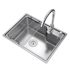 华帝不锈钢水槽单槽 水槽套餐 洗菜盆单槽 单槽