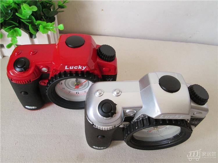 绿盒子 时尚照相机闹钟儿童创意生日礼品 超静音钟表图片