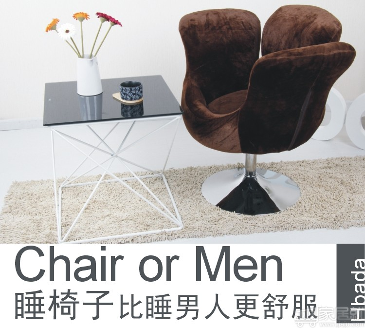黑白调 单人时尚宜家沙发椅电脑椅 hdny002 棕色 特价包邮图片