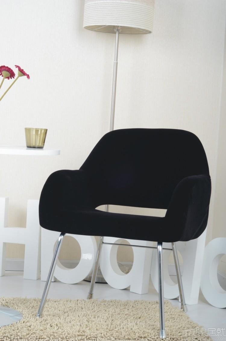黑白调 简约咖啡椅沙发椅 hxxy011-b 黑色 特价包邮图片