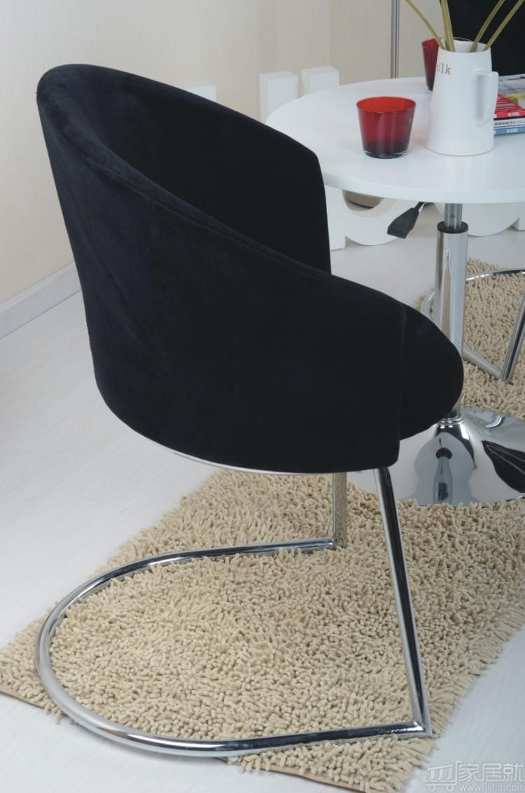黑白调 时尚简约布艺休闲椅沙发椅 hxxy019 黑色 特价包邮图片
