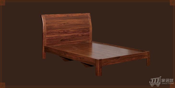 里外 胡桃色简约儿童床 中式板木单人床 w9115 胡桃木图片