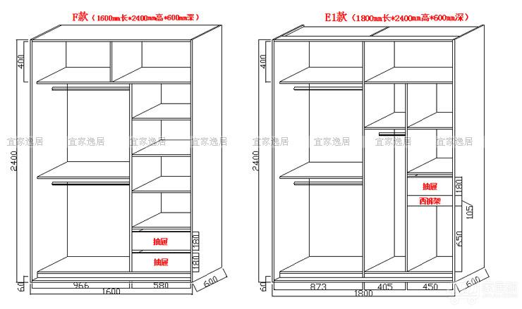 2m衣柜内部合理设计图图片