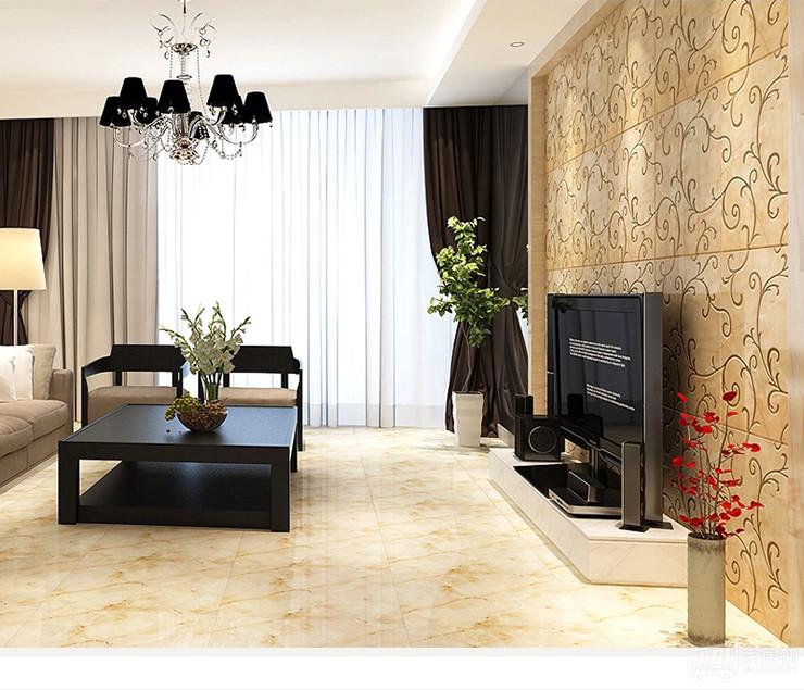 室内欧式微晶石背景墙瓷砖
