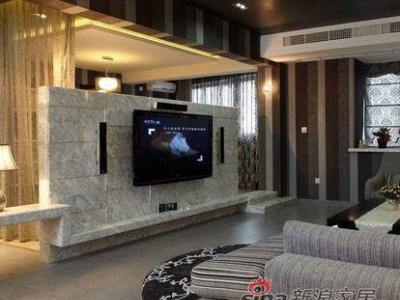 电视墙,采用半墙的形式