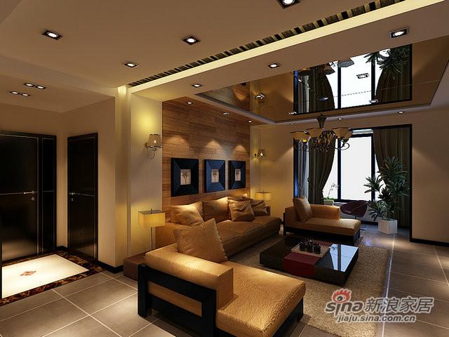 98平米两室两厅时尚现代风-1