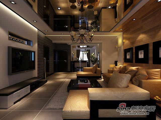 98平米两室两厅时尚现代风-3