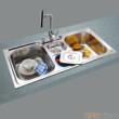 GORLDE优质不锈钢水槽/洗菜池 环保星系列HBS-6#(大小盆)