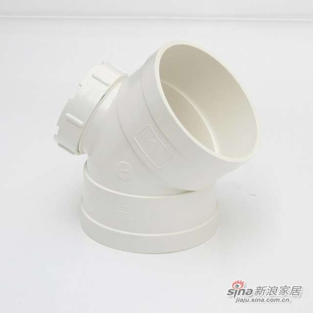 世丰PVC-U45°弯头带检查口-0
