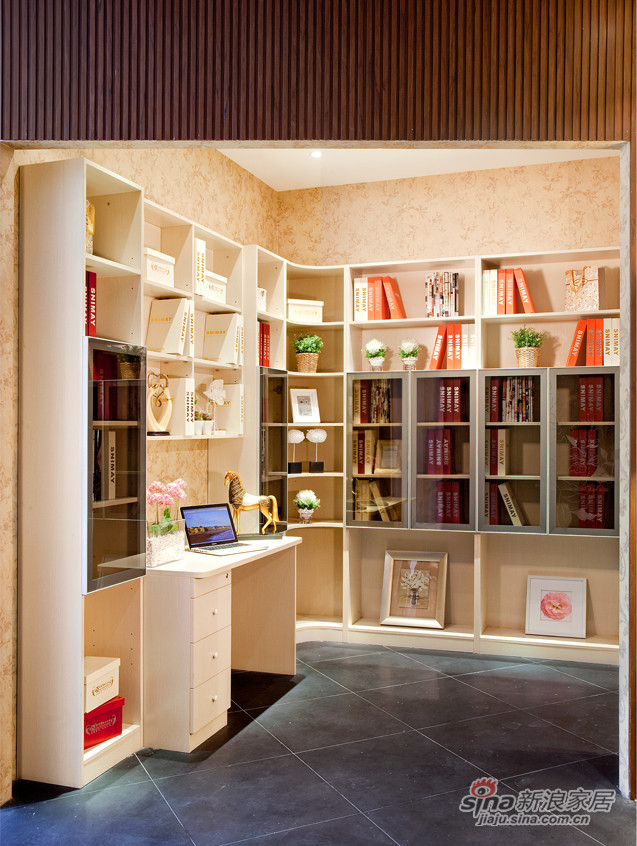 诗尼曼-白橡书柜-0