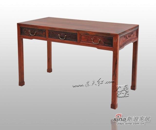 连天红松竹梅书桌-0