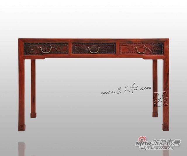 连天红松竹梅书桌-1
