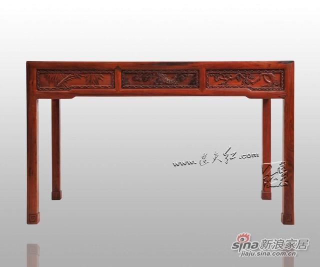 连天红松竹梅书桌-3