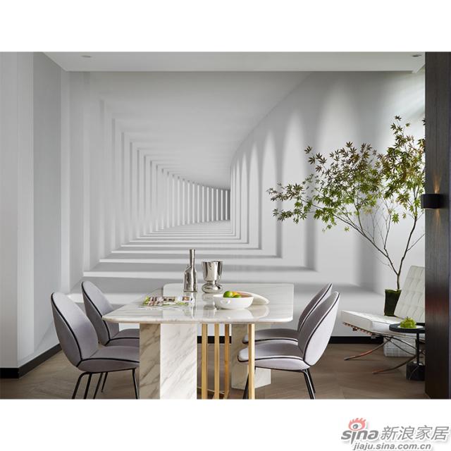 时空走廊_后现代极简的圆拱造型几何走廊壁画欧式风格背景墙_JCC天洋墙布