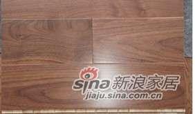 四合地板三层实木复合地板地热地板黑胡桃自然色 -0