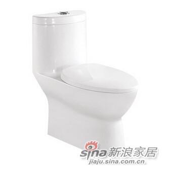 九牧卫生间连体抽水马桶-1