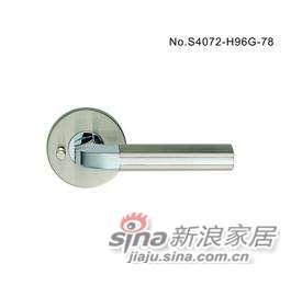 雅洁AS4072-H96-78浴室锁+尼龙镍/铬-0