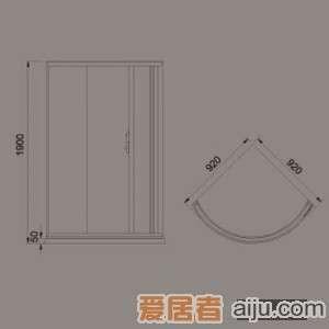 惠达-HD2106简易淋浴房1