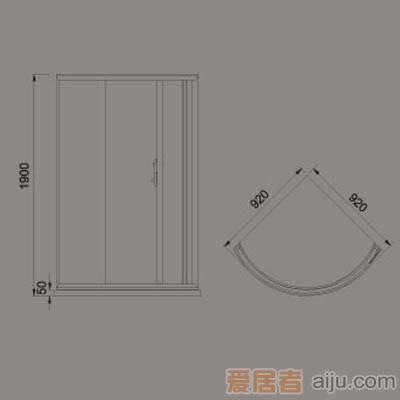 惠达-HD2106简易淋浴房2