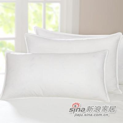 全棉平纹鹅毛枕芯-1