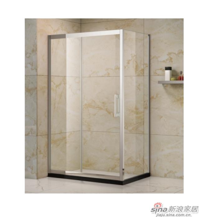 SH2-3172F方形二固一移沐浴房(不锈钢)