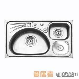 GORLDE优质不锈钢水槽/洗菜池 环保星系列HBS-1#(大小盆)2