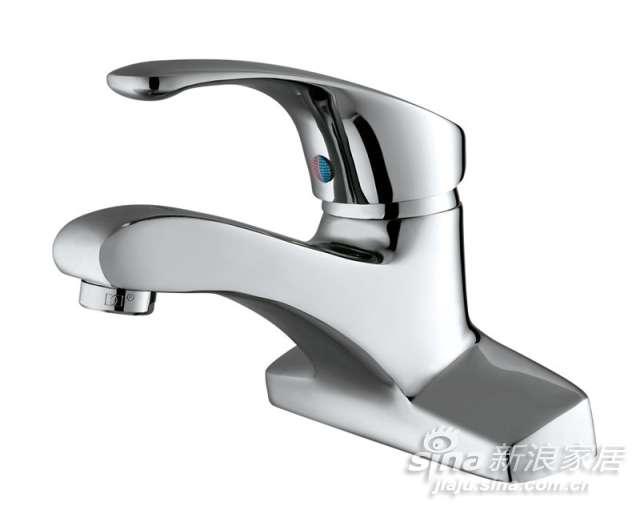 申鹭达卫浴银龙戏水系列单把双孔面盆龙头-0