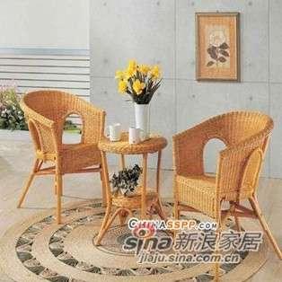 凰家御器藤椅藤家具三件套休闲椅阳台椅NH-A014-0