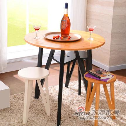 喜梦宝实木家具小户型圆形小餐桌