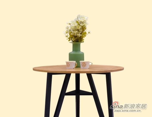 喜梦宝实木家具餐桌现代简约实木餐桌小圆桌小户型圆形饭桌小餐桌-3