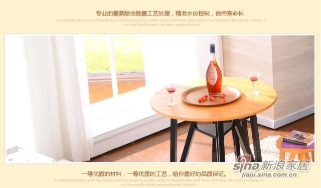 喜梦宝实木家具餐桌现代简约实木餐桌小圆桌小户型圆形饭桌小餐桌-4