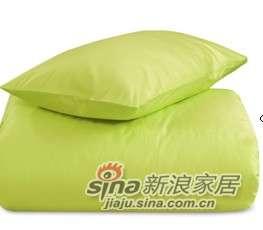 MLILY床上用品特价套件全棉斜纹活性印染炫彩三件套(绿色)-0