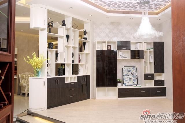 合生雅居天使白+高光UV电视柜、间厅柜-0