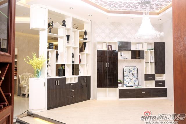合生雅居天使白+高光UV电视柜、间厅柜-1
