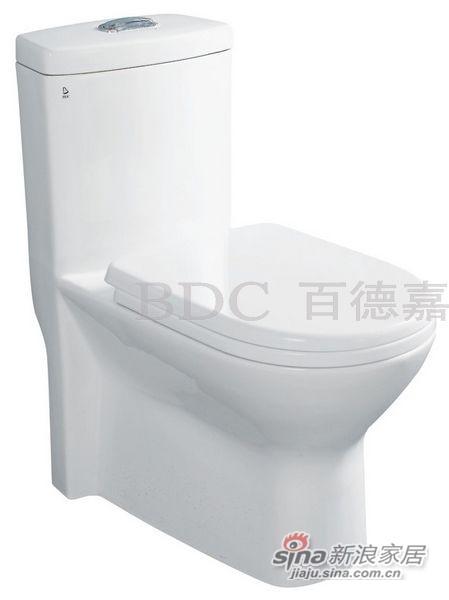 百德嘉陶瓷件连体座便器-H331113-0