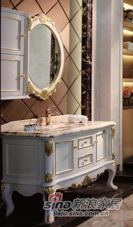 箭牌卫浴欧式仿古雕花浴室柜