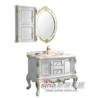 箭牌卫浴欧式仿古雕花浴室柜-1