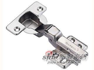 雅洁AK8258A-10(新款)烟斗铰+镍,底座四孔,半盖式,95度(不可拆装)-0