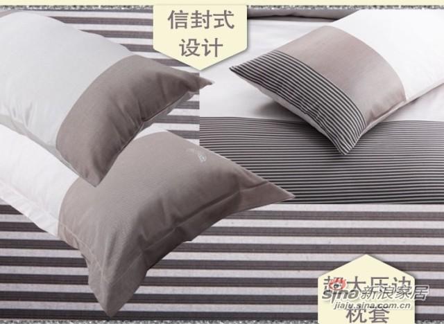 双叶深灰色高档纯棉床品七件套-2