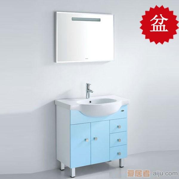 法恩莎PVC浴室柜FP3659盆(820*500*220mm)1