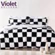 紫罗兰长绒棉四件套床上用品欧美风抗菌防螨套件