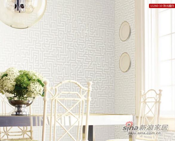 瑞宝壁纸3d回纹中式浮雕环保墙纸-0