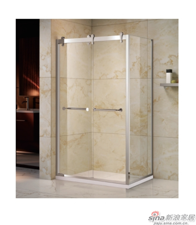 SH2-3181F方形一固两互移沐浴房(不锈钢)