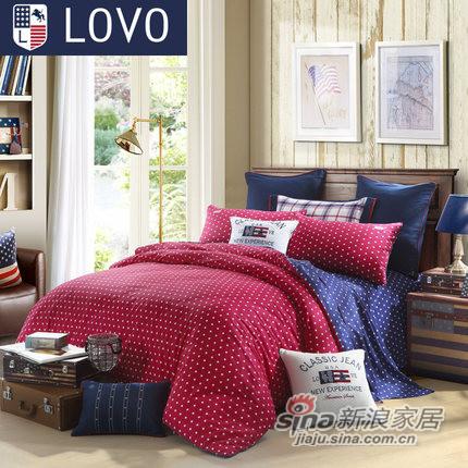 lovo罗莱家纺出品床上用品床单全纯棉四件-0